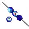 Fire polished 4mm Cobalt Blue Aurora Borealis